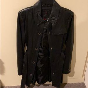 Anne Klein leather trench size small